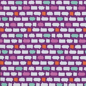 Erin McMorris Moxie Fabric - Chatroom - Ruby