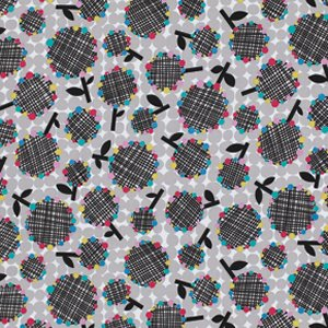 Erin McMorris Moxie Fabric - Cheerio - Black