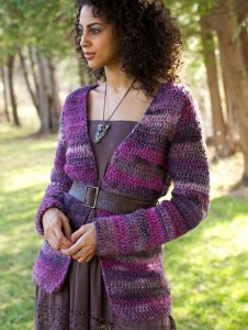 Berroco Lodge Dosado Cardigan Kit - Crochet for Adults