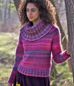 Berroco Lodge Acey Pullover Kit - Women's Pullovers