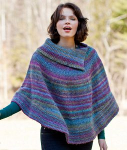 Berroco Lodge Flutterwheel Poncho Kit - Women's Pullovers