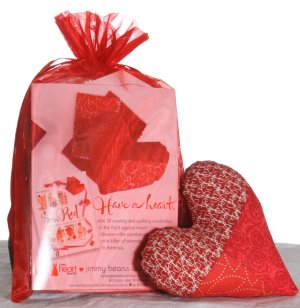 Jimmy Beans Wool Stitch Red - Piece of My Heart Pincushion Kit