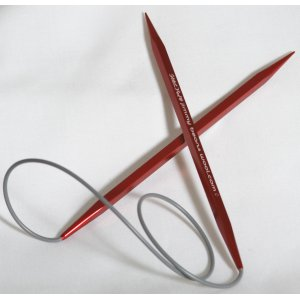 "Kollage Stitch Red Square Circular Needles - US 1.5 (2.5mm) - 32""  (Firm Cable) Needles"
