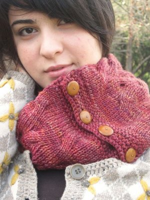 Grace Akhrem Patterns - Reversible Tangled Branches Cowl Pattern