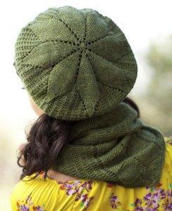 Artyarns Cashmere Sock Purslane Beret and Cowl Set Kit - Hats and Gloves