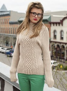 Plymouth DK Merino Superwash Kennedy Sweater Kit - Women's Pullovers