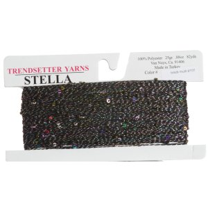 Trendsetter Stella Yarn - 04 Black Multi
