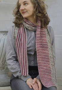 Malabrigo Silky Merino Constitution Hall Scarf Kit - Scarf and Shawls