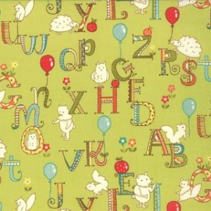 Keiki Mind Your Ps & Qs Fabric