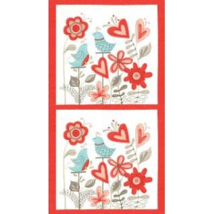 Sandy Gervais Flirt Panel Fabric - Multi (17700 12)