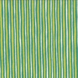 Keiki Mind Your Ps & Qs Fabric - Stripes - Chartreuse/Teal (32715 14)