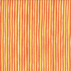 Keiki Mind Your Ps & Qs Fabric - Stripes - Tangerine/Sunshine (32715 16)