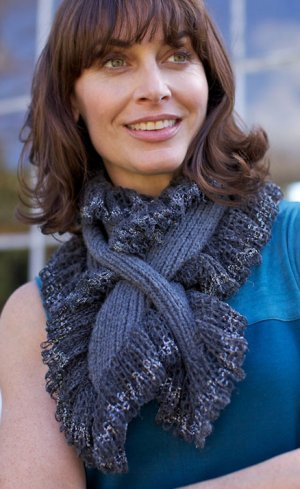 Berroco Lacey Metallic Mallet Scarf Kit - Scarf and Shawls
