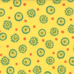 Keiki Mind Your Ps & Qs Fabric - Sunburst Dots - Sunshine (32714 17)