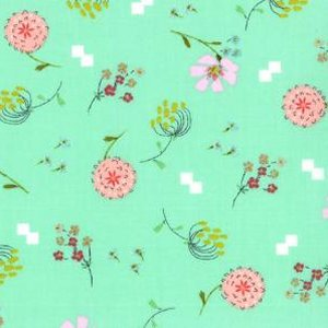 Aneela Hoey Posy Fabric - Bouquet - Forget Me Not (18553 11)