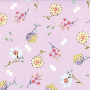 Aneela Hoey Posy Fabric - Bouquet - Lilac (18553 14)