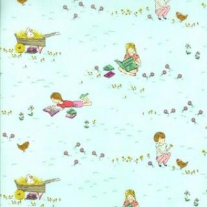 Aneela Hoey Posy Fabric - Meadow - Forget Me Not (18550 11)