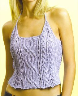 Tahki Cotton Classic Cabled Tank Kit - Women's Sleeveless
