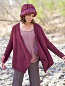 Berroco Blackstone Tweed Arrowroot Sweater Kit - Women's Cardigans