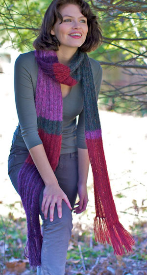 Berroco Cirrus Perrault Ribbed Scarf Kit - Scarf and Shawls