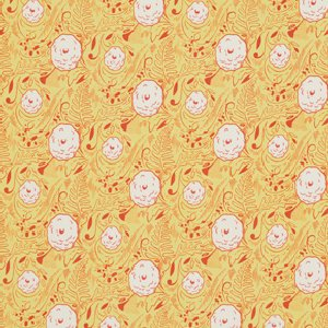 Felicity Miller Charleston Farmhouse Fabric - Dahlia Leaf - Citron
