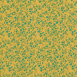 Felicity Miller Charleston Farmhouse Fabric - Plumberry - Ochre