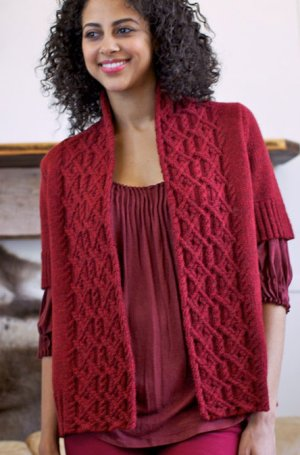 Berroco Ultra Alpaca Light Reciproca Cardigan Kit - Women's Cardigans