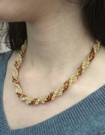 Javori Designs Leah Twist Necklace - Topaz