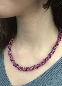 Javori Designs Leah Twist Necklace - Fuchsia