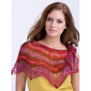 TSCArtyarns Jeweled Scallops Shawl Kit - Burnt Red Mix
