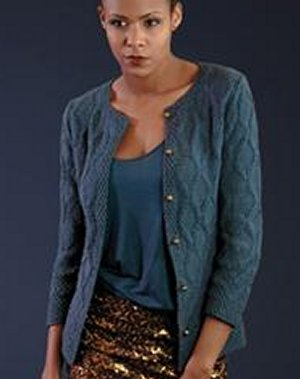 Rowan Handknit Cotton Cobalt Cardigan Kit - Women's Cardigans
