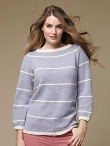 Rowan Wool Cotton DK Eccles Pullover Kit - Women's Pullovers