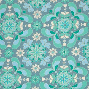 Jenean Morrison Grand Hotel Fabric - Room Service -Teal