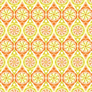 Jenean Morrison Power Pop Fabric - Big Star - Orange