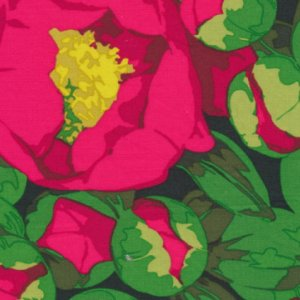 Martha Negley Flower Garden Fabric - Peony - Red