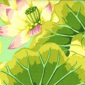 Kaffe Fassett Lake Blossoms Fabric - Green