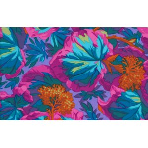 Philip Jacobs Variegated Ivy Fabric - Turquoise