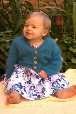 Plymouth Baby & Children Patterns - 2478 Angora Baby V-Neck Cardigan Pattern