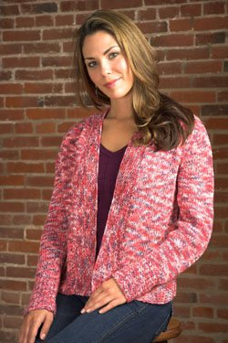 Plymouth Yarn Jacket & Cardigan Patterns - 2495 Colorando Woman's Cardigan Pattern