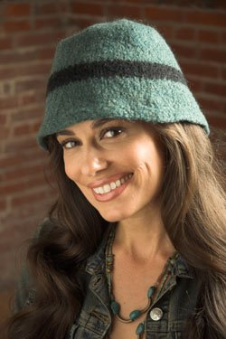 Plymouth Women's Accessory Patterns - 2513 Galway Felted Bucket Hat Pattern