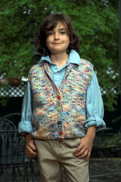 Plymouth Baby & Children Patterns - 2519 Jelli Beenz Kid's Shawl Collar Vest Pattern