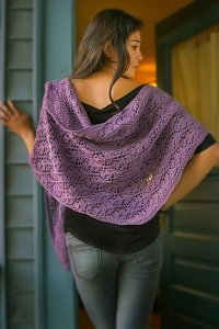 Imperial Yarn Patterns - Rhombus Feather Shawl Pattern
