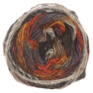 Noro Silk Garden Sock Yarn - 349 Burnt Orange, Wine, Greys, Taupe