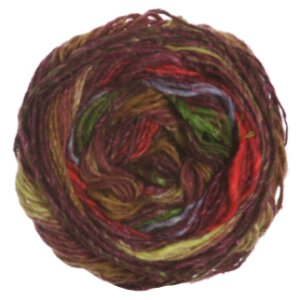 Noro Silk Garden Sock Yarn - 356 Coral, Lime, Brown (Discontinued)