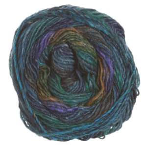 Noro Silk Garden Sock Yarn - 369 Blue, Green, Black, Brown