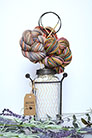 Jimmy Beans Wool Koigu Yarn Bouquets - Linen Stitch Scarf Bouquet - Red/Orange