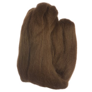 Clover Natural Wool Roving Yarn - Brown