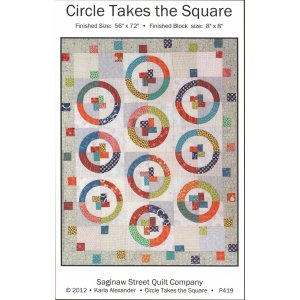 Saginaw St Quilt Company Patterns - Circle Takes the Square Pattern