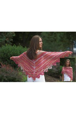 Plymouth Women's Accessory Patterns - 2525 Linen Concerto Shawl Pattern