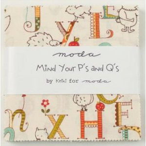 Keiki Mind Your Ps & Qs Precuts Fabric - Charm Pack